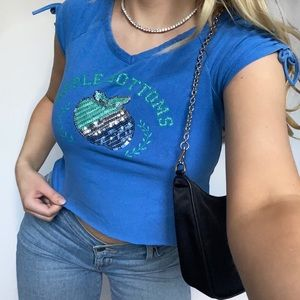 Apple Bottoms Y2K Baby Tee Crop Top